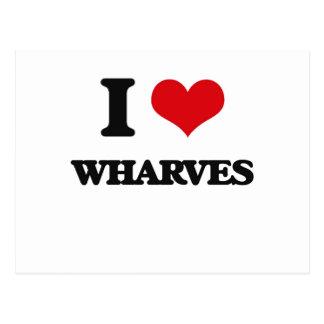I love Wharves Postcard