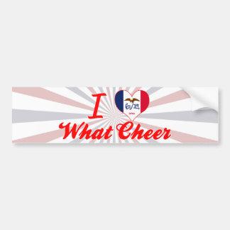 I Love What Cheer, Iowa Bumper Sticker