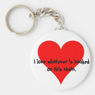 I love whatever is hooked on this chain keychain