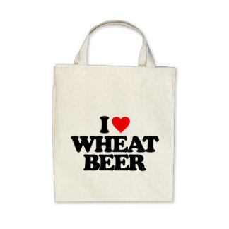 I LOVE WHEAT BEER CANVAS BAG
