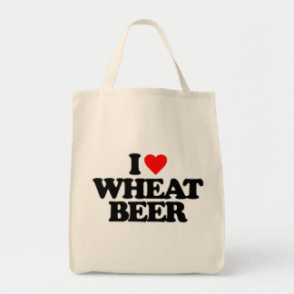 I LOVE WHEAT BEER CANVAS BAGS