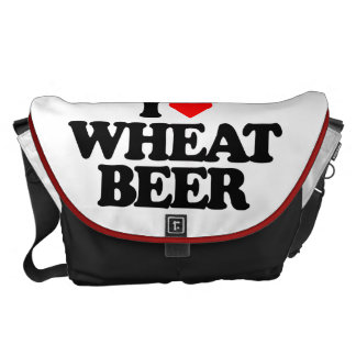 I LOVE WHEAT BEER COURIER BAG