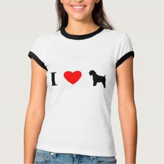 I Love Wheaten Terriers Ladies Ringer T-Shirt
