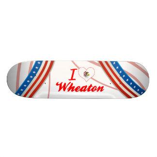 I Love Wheaton, Illinois Skate Board Deck
