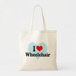 I love Wheelchair Canvas Bag