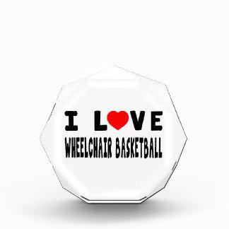 I Love Wheelchair Basketball Acrylic Award