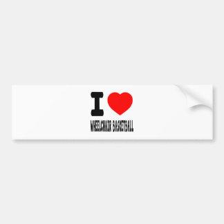 I Love Wheelchair Basketball Bumper Stickers