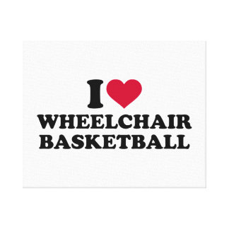 I love wheelchair basketball canvas print