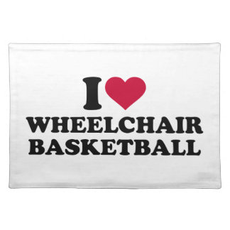 I love wheelchair basketball cloth placemat