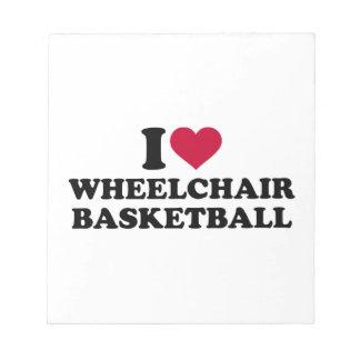 I love wheelchair basketball notepad
