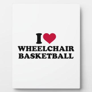 I love wheelchair basketball plaque