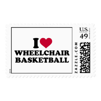 I love wheelchair basketball postage stamp