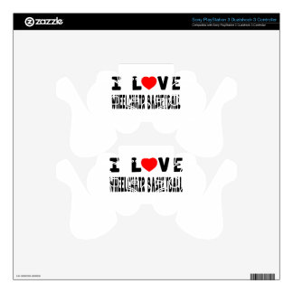 I Love Wheelchair Basketball PS3 Controller Decal