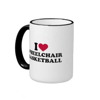 I love wheelchair basketball ringer mug