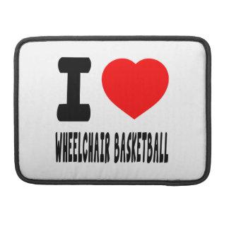 I Love Wheelchair Basketball Sleeve For MacBooks
