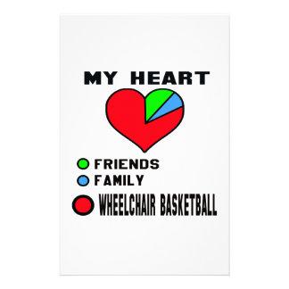 I love Wheelchair basketball. Stationery