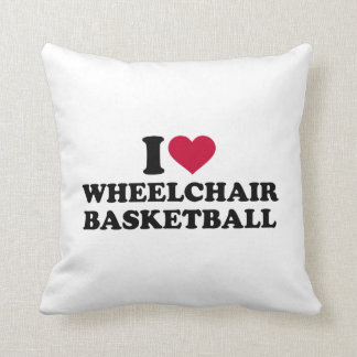 I love wheelchair basketball throw pillow