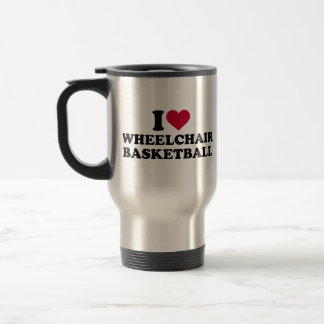I love wheelchair basketball travel mug