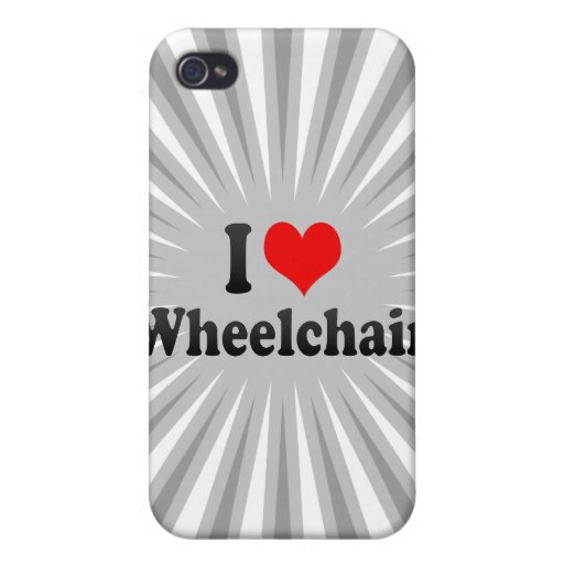I love Wheelchair iPhone 4/4S Cover