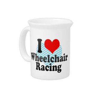 I love Wheelchair Racing Beverage Pitcher