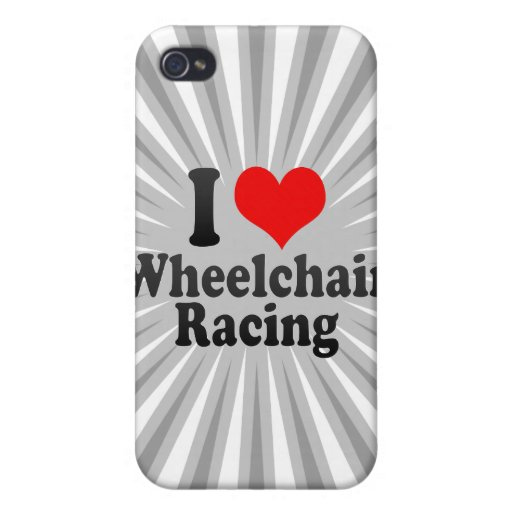 I love Wheelchair Racing Cover For iPhone 4