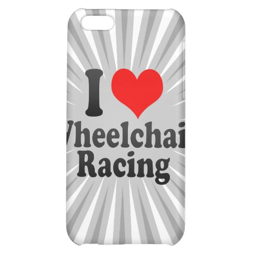 I love Wheelchair Racing Case For iPhone 5C