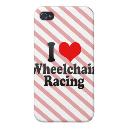 I love Wheelchair Racing iPhone 4/4S Cover