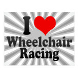 I love Wheelchair Racing Postcard