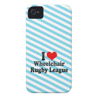I love Wheelchair Rugby League iPhone 4 Cases