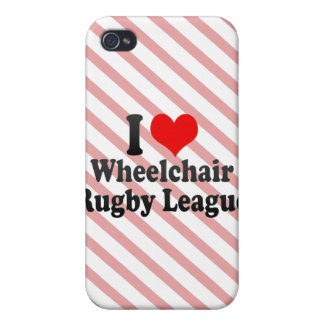I love Wheelchair Rugby League iPhone 4/4S Cases