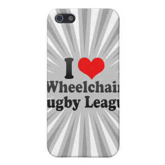 I love Wheelchair Rugby League iPhone 5 Cases