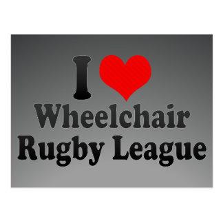 I love Wheelchair Rugby League Postcard