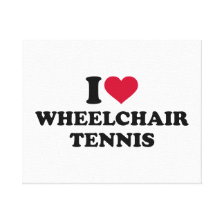 I love wheelchair tennis canvas print