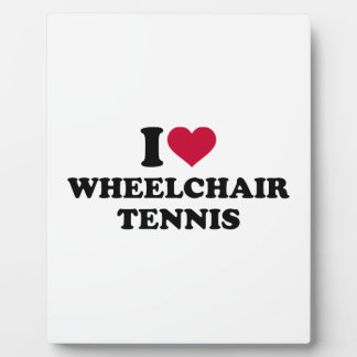 I love wheelchair tennis plaque