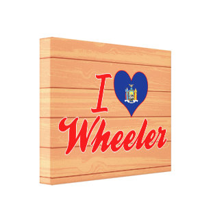 I Love Wheeler New York Gallery Wrapped Canvas