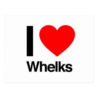 i love whelks postcard