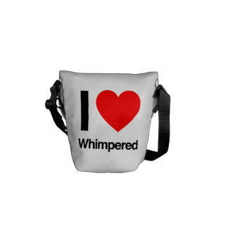 i love whimpered courier bags