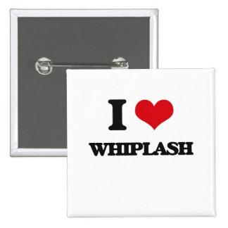 I love Whiplash 2 Inch Square Button