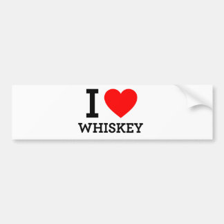 I Love Whiskey Bumper Stickers