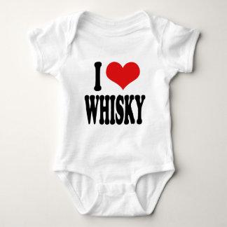 I Love Whisky Baby Bodysuit