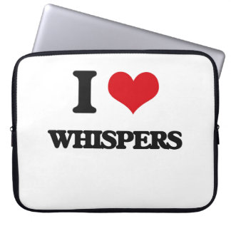 I love Whispers Laptop Computer Sleeves