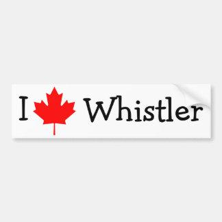 I Love Whistler Car Bumper Sticker