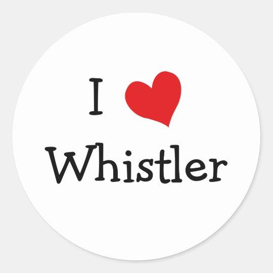 I Love Whistler Classic Round Sticker