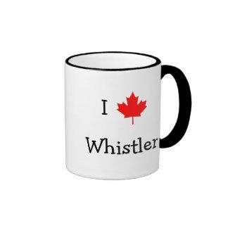 I Love Whistler Ringer Coffee Mug