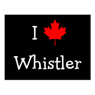 I Love Whistler Postcard