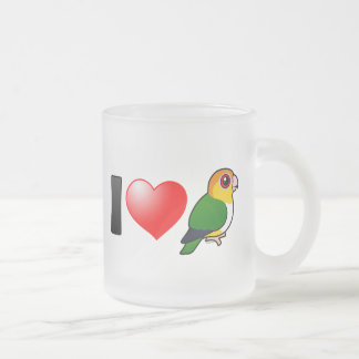 I Love White-bellied Parrots Frosted Glass Coffee Mug