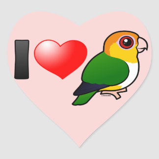 I Love White-bellied Parrots Sticker