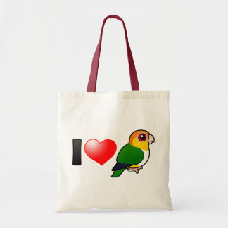 I Love White-bellied Parrots Tote Bag