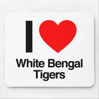 i love white bengal tigers mousepad