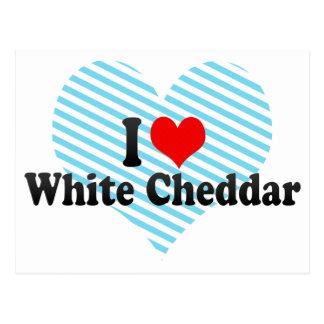 I Love White Cheddar Postcard